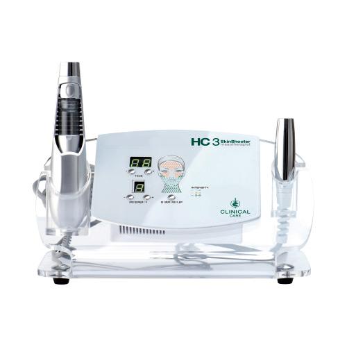 HC3 SkinShoter ist ein Kosmetik-Gerät zur Mesoporation bzw. Meso-Elektroporation. Dabei handelt es sich um eine nadelfreie Alternative zur klassischen Mesotherapie.